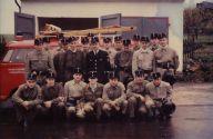 Die Mannschaft vor dem Gerätehaus Am Franzenstein am 25. Juni 1966